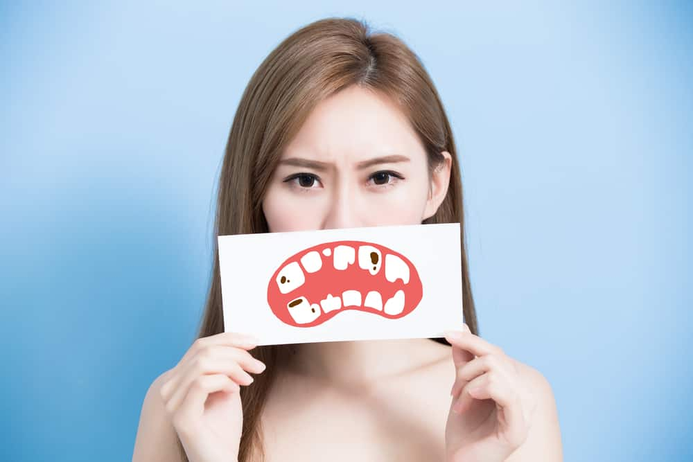 Cavities formed on teeth