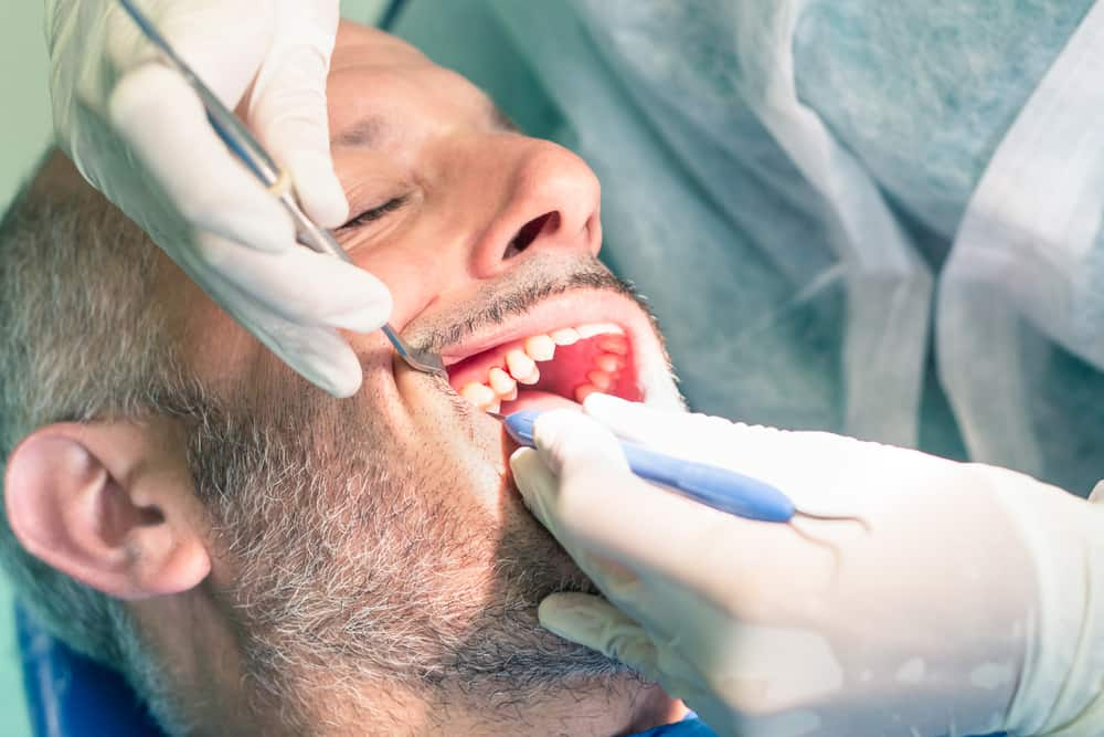 root canal treatment at the dentist
